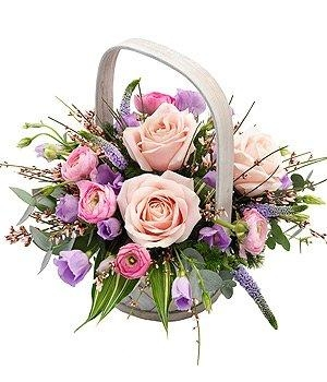 Pink and Mauve Basket.