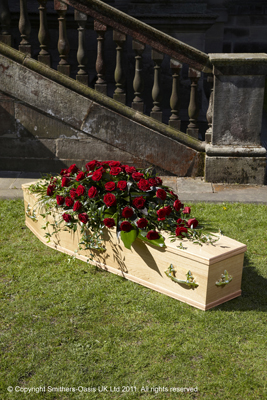 Red Rose Coffin Spray