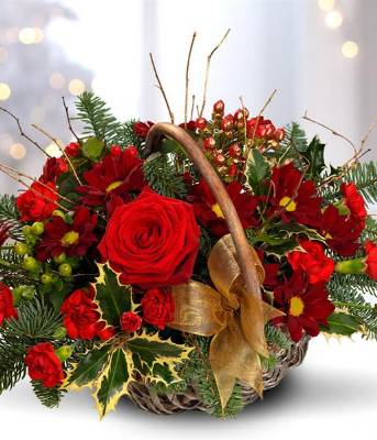 Festive Ruby Basket