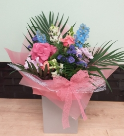 Florist Choice Aqua Hand Tied