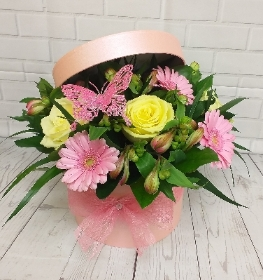 Pink Cream Hat Box
